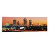 iCanvas Panoramic Buildings Lit Up at Dusk, Fort Worth, Texas, Photographic Print on Canvas
