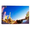 iCanvas Panoramic Buildings Lit Up at Dusk, Las Vegas, Nevada, Photographic Print on Canvas