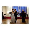 <strong>iCanvasArt</strong> Political Barack and Michelle Obama Dancing Photographic Print on Canvas