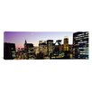 <strong>iCanvasArt</strong> Panoramic Buildings Lit Up at Dusk, Manhattan, New York City, New York State, Photographic Print on Canvas