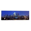 iCanvas Panoramic Buildings Lit Up at Night in a City, Comcast Center, Center City, Philadelphia, Philadelphia County, Pennsylvania, Photographic Print on Canvas