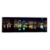 iCanvas Panoramic Buildings Lit Up At Night in a City, Lake Eola, Orlando, Orange County, Florida, 2010 Photographic Print on Canvas