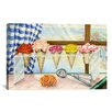 <strong>iCanvasArt</strong> Decorative Art Begonias A La Mode (Ice Cream Flower) Painting Print on Canvas