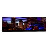 iCanvas Panoramic Buildings Lit Up at Night, Millennium Park, Chicago, Cook County, Illinois, Photographic Print on Canvas