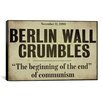 <strong>iCanvasArt</strong> Color Bakery 'Berlin Wall' Textual Art on Canvas