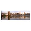 <strong>iCanvasArt</strong> Panoramic Brooklyn Bridge Manhattan, New York Photographic Print on Canvas