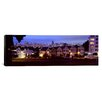 iCanvas Panoramic Buildings Lit Up at Dusk, Alamo Square, San Francisco, California, Photographic Print on Canvas