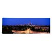 iCanvasArt Panoramic Buildings Lit Up at Dusk, Chicago, Illinois, Photographic Print on Canvas