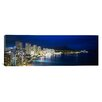 <strong>iCanvasArt</strong> Panoramic Buildings on the Waterfront Waikiki, Hawaii Photographic Print on Canvas