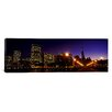 iCanvas Panoramic Buildings at the Waterfront Lit up at Dusk, San Francisco, California Photographic Print on Canvas