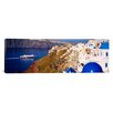 iCanvas Panoramic Buildings in a Valley, Santorini, Cyclades Islands, Greece Photographic Print on Canvas