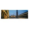 iCanvasArt Panoramic Cathedral Lit up at Dusk, St. Mark's Cathedral, St. Mark's Square, Venice, Veneto, Italy Photographic Print on Canvas