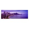 iCanvasArt Panoramic Buildings at the Coastline with A Volcanic Mountain Photographic Print on Canvas