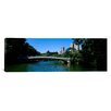<strong>iCanvasArt</strong> Panoramic Bridge over a Lake, Bow Bridge, Manhattan, NYC, New York City Photographic Print on Canvas