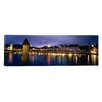 iCanvas Panoramic Buildings Lit up at Dusk Reuss River, Switzerland Photographic Print on Canvas