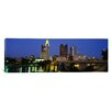 <strong>iCanvasArt</strong> Panoramic Buildings Lit up at Night Columbus, Ohio,Photographic Print on Canvas