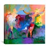 iCanvas 'Bull' By Richard Wallich Graphic Art on Canvas