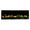 <strong>iCanvasArt</strong> Panoramic Buildings Lit Up at Night in a City, Las Vegas, Nevada, Photographic Print on Canvas