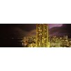 iCanvasArt Panoramic Buildings Lit up at Night Honolulu, Hawaii Photographic Print on Canvas