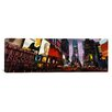 iCanvasArt Panoramic Buildings Lit Up at Night, Times Square, Manhattan, New York City, New York State, Photographic Print on Canvas