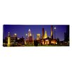 iCanvas Panoramic Buildings Lit up at Night Cleveland Photographic Print on Canvas