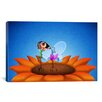 iCanvasArt Kids Children Butterfly Makeup Canvas Wall Art