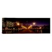 iCanvas Panoramic Buildings at the Waterfront Lit up at Night, San Francisco, California Photographic Print on Canvas
