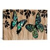 iCanvasArt Butterfly Patchwork by Erin Clark Graphic Art on Canvas