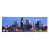 iCanvas Panoramic Buildings Lit up at Dusk Denver, Colorado Photographic Print on Canvas