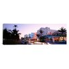 iCanvas Panoramic Buildings Lit up at Dusk Miami, Florida Photographic Print on Canvas