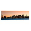 iCanvasArt Panoramic Buildings Lit Up At Dusk, San Francisco, California, 2010 Photographic Print on Canvas
