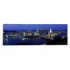 iCanvas Panoramic Buildings along a River Lit up at Dusk, Monongahela River, Pittsburgh, Pennsylvania Photographic Print on Canvas