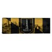 <strong>iCanvasArt</strong> Baltimore Flag, Grunge Skyline Panoramic Graphic Art on Canvas