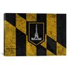 <strong>iCanvasArt</strong> Baltimore Flag, Grunge Vintage Map Graphic Art on Canvas