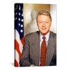 <strong>Political Bill Clinton Portrait Photographic Print on Canvas</strong> by iCanvasArt