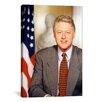 iCanvas Political Bill Clinton Portrait Photographic Print on Canvas