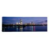 iCanvas Panoramic Buildings on the Waterfront at Dusk, Boston, Massachusetts, Photographic Print on Canvas