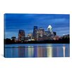 iCanvas Panoramic Buildings at the Waterfront Lit up at Dusk, Town Lake, Austin, Texas Photographic Print on Canvas
