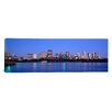 iCanvas Panoramic Buildings at the Waterfront Lit up at Night, Boston, Massachusetts Photographic Print on Canvas