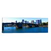iCanvas Panoramic Burnside Bridge, Willamette River, Portland, Multnomah County, Oregon 2010 Photographic Print on Canvas