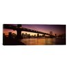 <strong>iCanvasArt</strong> Panoramic Manhattan Bridge, Lower Manhattan, New York City, New York State Photographic Print on Canvas