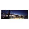 iCanvas Panoramic Manhattan Bridge, Lower Manhattan, New York City, New York State Photographic Print on Canvas