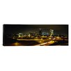 <strong>iCanvasArt</strong> Panoramic Buildings Lit Up at Night, Kansas City, Missouri, Photographic Print on Canvas