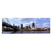 iCanvas Panoramic Bridge across the Ohio River, Cincinnati, Ohio Photographic Print on Canvas