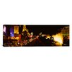iCanvas Panoramic Buildings Lit Up at Night, Las Vegas, Nevada, Photographic Print on Canvas