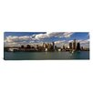 <strong>iCanvasArt</strong> Panoramic Buildings at the Waterfront Detroit River, Detroit, Michigan Photographic Print on Canvas