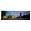 iCanvas Panoramic Cathedral at a Town Square, St. Basil's Cathedral, Moscow, Russia Photographic Print on Canvas