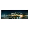 iCanvas Panoramic Boats at a Harbor with Buildings in the Background, Miami Yacht Basin, Miami, Florida Photographic Print on Canvas