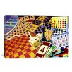 <strong>iCanvasArt</strong> Kids Children Board Games Canvas Wall Art