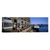 iCanvasArt Panoramic Boats at a Harbor, Rowe's Wharf, Boston Harbor, Boston, Suffolk County, Massachusetts Photographic Print on Canvas